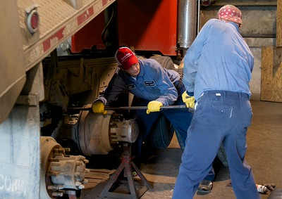 Uniontown Auto Technician working on a Truck